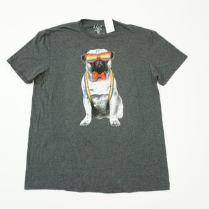 JEM Short Sleeve Rainbow Colors Dog Graphic Tee